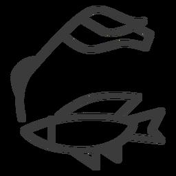 Fish cane nile flipper stroke