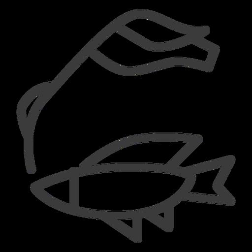 Pez caña nilón aleta movimiento Transparent PNG