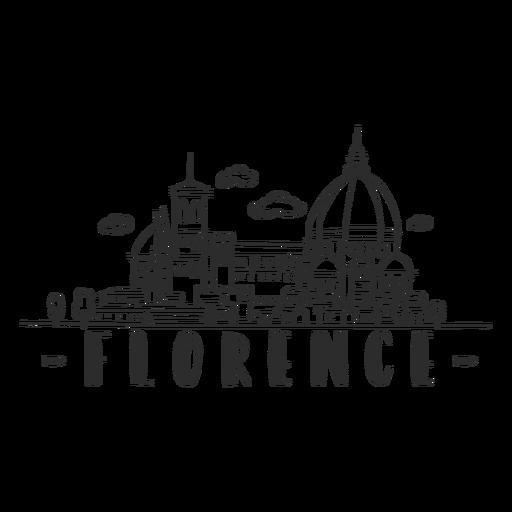 Etiqueta engomada del horizonte de Florencia Transparent PNG