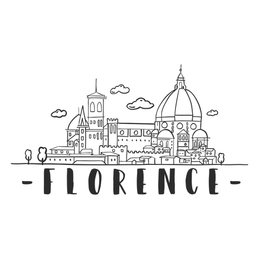 Florence church building construction temple cloud skyline sticker Transparent PNG
