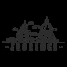 Etiqueta engomada del doodle del horizonte de Florencia