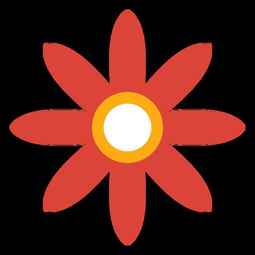 Pétala de flor aster camomila plana Transparent PNG