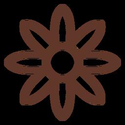 Flower petal aster camomile stroke