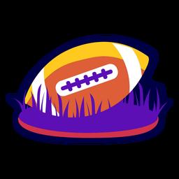 Bola de distintivo de futebol plana