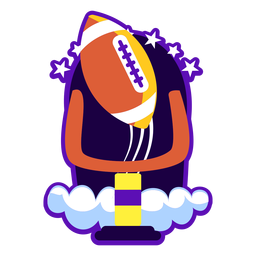 Football badge flat illustration