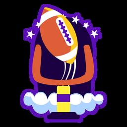 Ilustração plana de distintivo de futebol