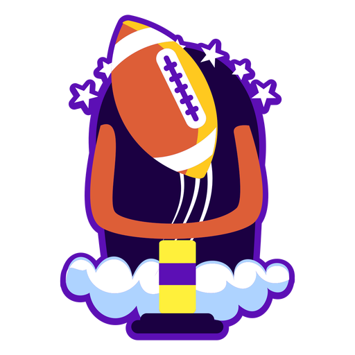 Football badge flat illustration Transparent PNG