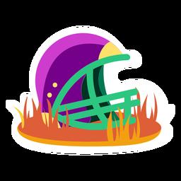 Fußballabzeichen Helm flach