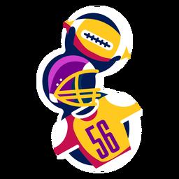 Distintivo de capacete de futebol