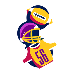 Football helmet badge