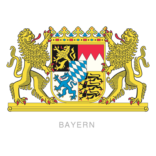 Escudo del bayern de la provincia alemana