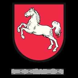 Cresta niedersachsen estado alemán