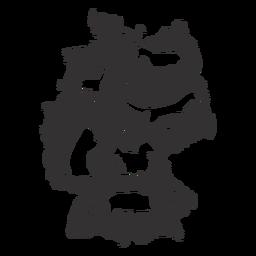 Silhueta de mapa da Alemanha