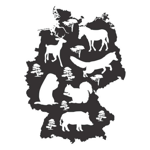 Germany map silhouette Transparent PNG