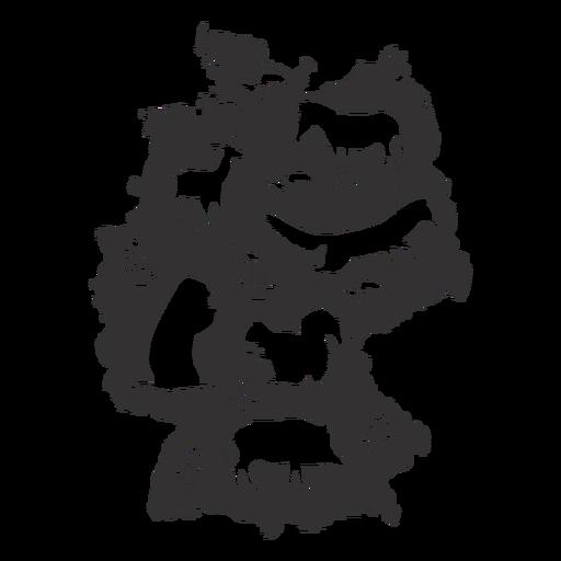 Silhueta de mapa da Alemanha Transparent PNG