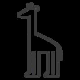 Jirafa cuello alto largo ossicones trazo