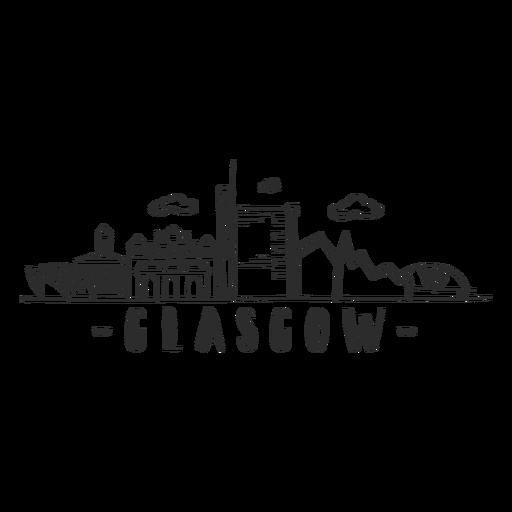 Adesivo skyline de Glasgow Transparent PNG