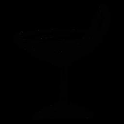 Cóctel de vidrio naranja limón rebanada boceto