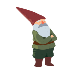 Gnome bearded man beard hat illustration