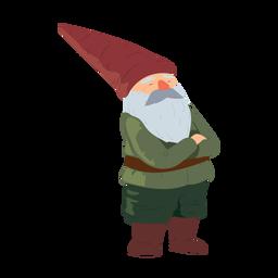 Gnomo hombre barbudo barba sombrero ilustración