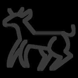 Cabra de chifre de cabra vaca animal acidente vascular cerebral