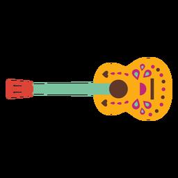 Patrón de cuerdas de guitarra plana