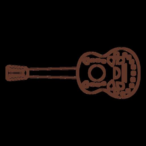 Patrón de cuerda de guitarra trazo Transparent PNG