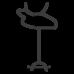 Varita cabeza personal vara animal cuerno trazo