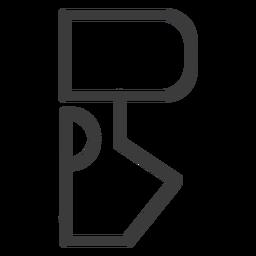 Curso de sinal de figura de hieróglifo