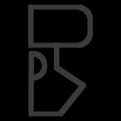 Curso de sinal de figura de hieróglifo Transparent PNG