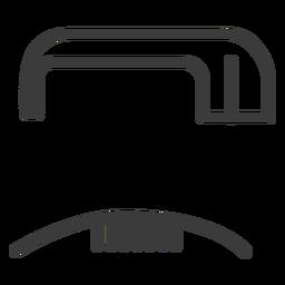 Hieroglyphe Zeichen Figur Bild Strich