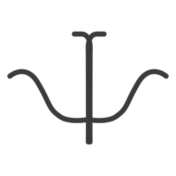 Hieroglyph sign figure image symmetry stroke