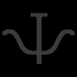 Hieroglyphe Zeichen Figur Bild Symmetrie Schlaganfall