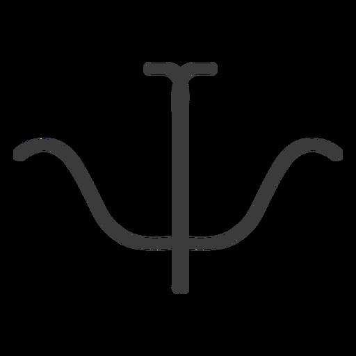 Hieroglyph sign figure image symmetry stroke