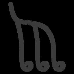Hieroglyphe Zeichen Bild Figur Strich