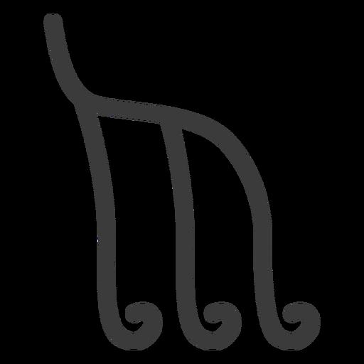 Hieróglifo sinal figura acidente vascular cerebral Transparent PNG