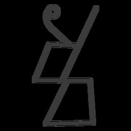 Hieroglyphe Zeichen Bild Figur Trapez Schlaganfall