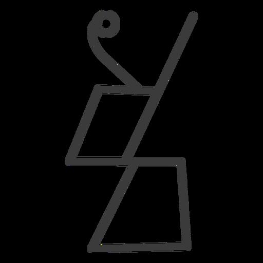 Hieroglyph sign image figure trapezium stroke