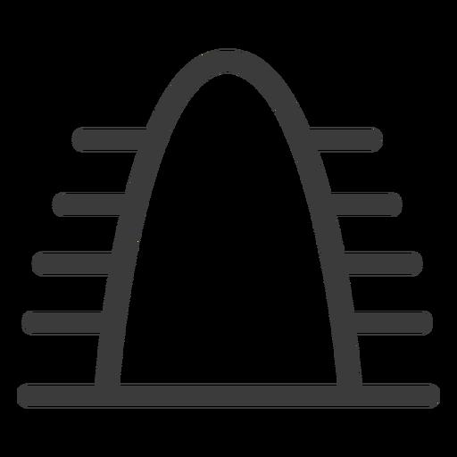 Curso de montanha de colina Transparent PNG