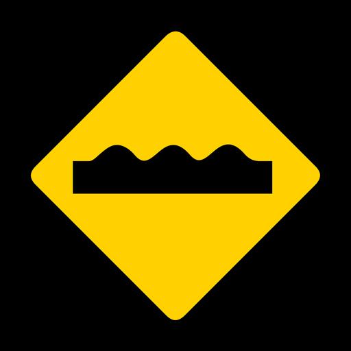 Advertencia de rombo agujero plano Transparent PNG