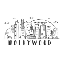 Hollywood colina montaña palma puente torre cúpula centro de negocios rascacielos centro comercial nube horizonte etiqueta