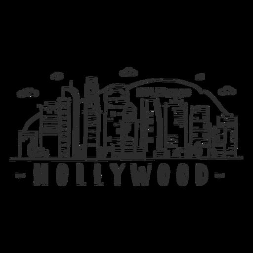 Hollywood hill palma da montanha ponte torre cúpula centro de negócios céu raspador shopping nuvem skyline adesivo Transparent PNG