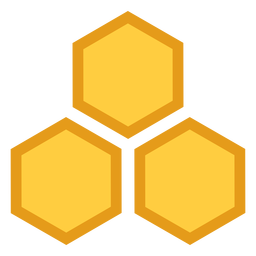 Ícone hexágono de favo de mel três