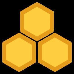Icono hexagonal tres de nido de abeja