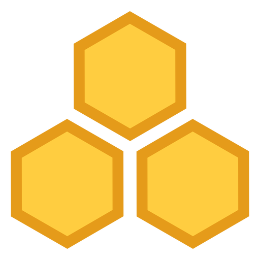 Icono hexagonal tres de nido de abeja Transparent PNG