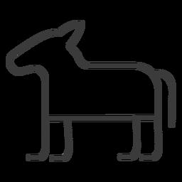 Burro caballo divinidad trazo