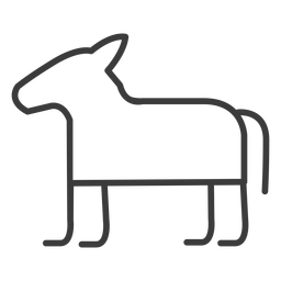 Caballo burro divinidad trazo