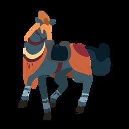 Ilustração de casco de freio de juba de cavalo