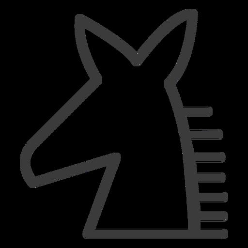 Pferd Mähne Esel Schlaganfall Transparent PNG