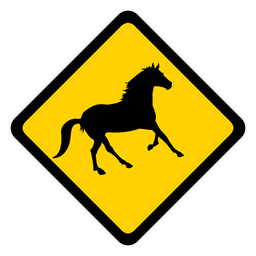 Horse rhomb warning flat